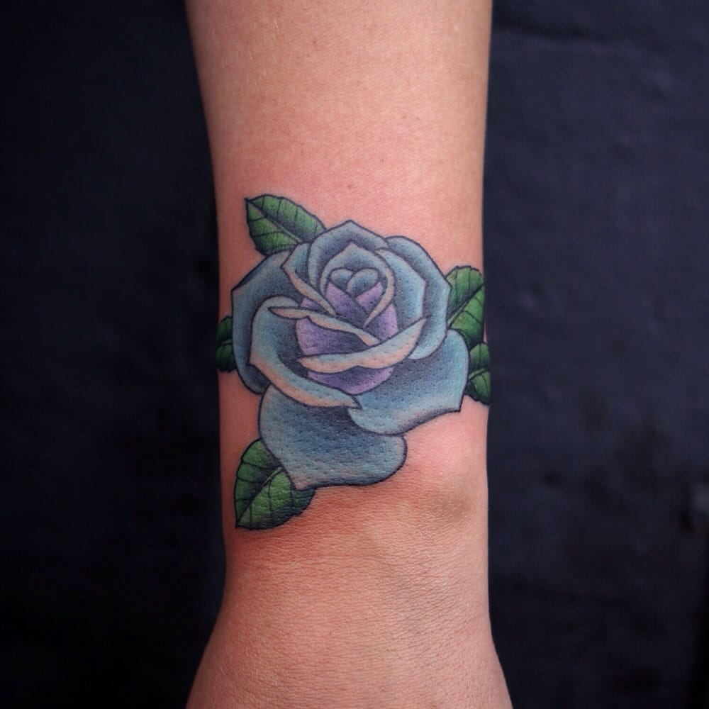 rose tattoo on wrist by justin jakus yelp. Black Bedroom Furniture Sets. Home Design Ideas