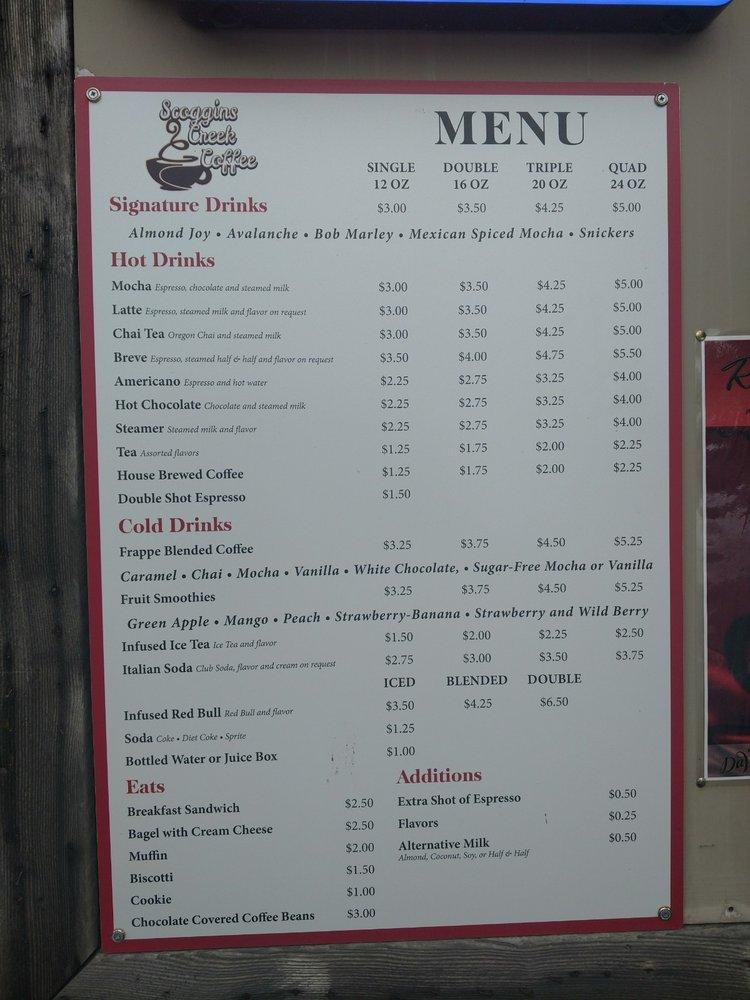 Scoggins Creek Coffee: 93 E Main St, Gaston, OR