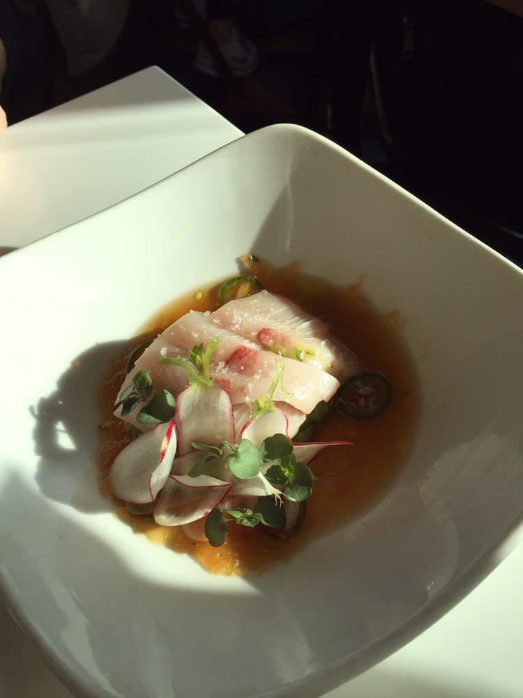 Hamachi 17 served over over powering guacamole my for Fishing with dynamite manhattan beach
