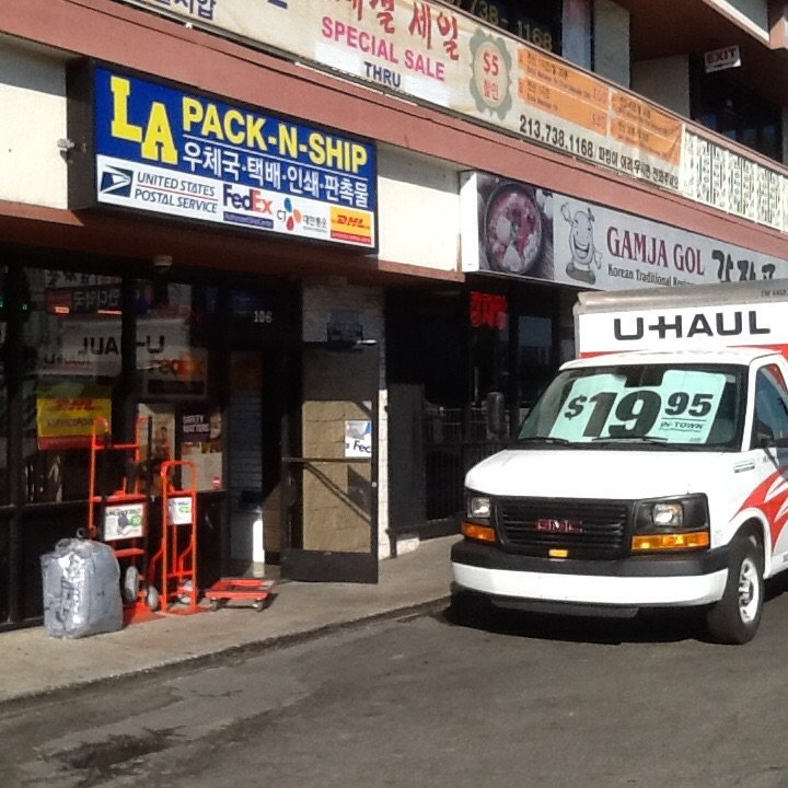 U-Haul Neighborhood Dealer: 3003 W Olympic Bl Ste 106, Los Angeles, CA