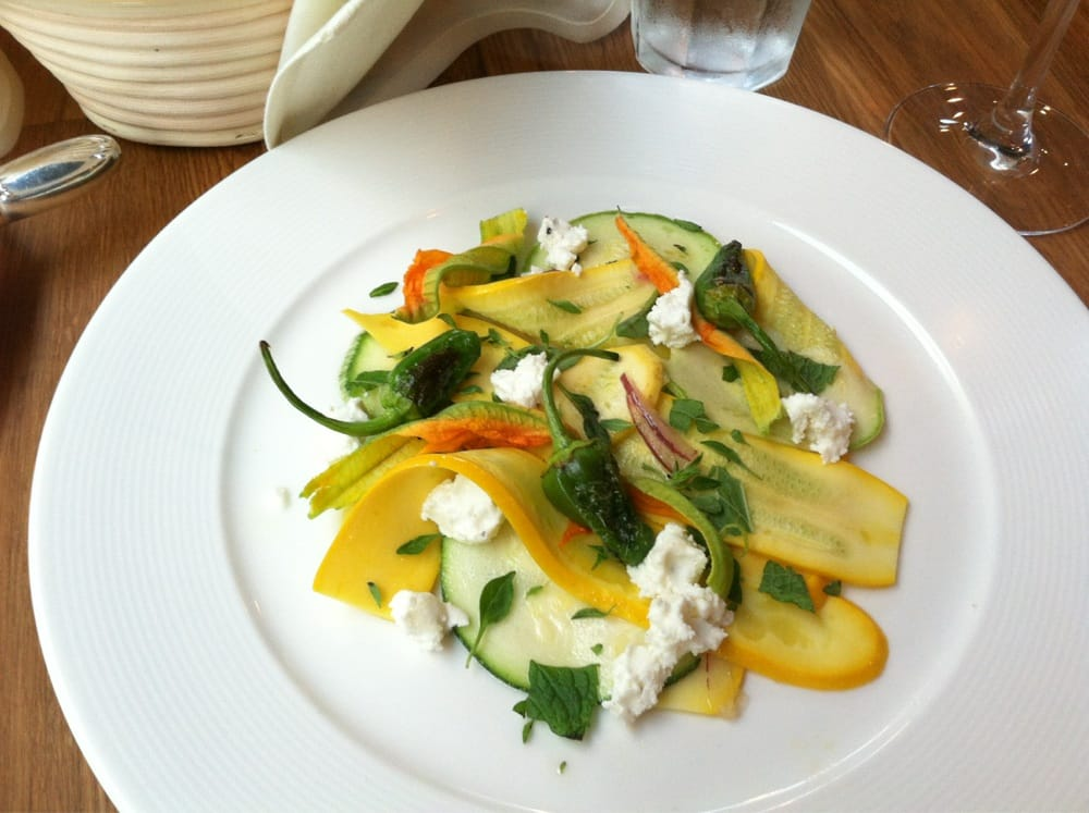 Shaved summer squash salad with mint & goat cheese - Yelp