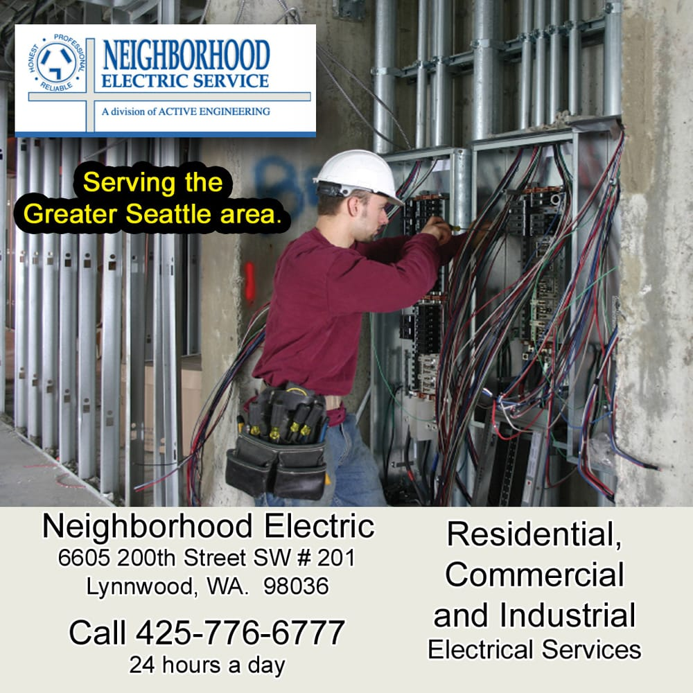 Commercial Residential And Industrial Electrical Service Amp Fuse Box Photo Of Neighborhood Electric Lynnwood Wa United States