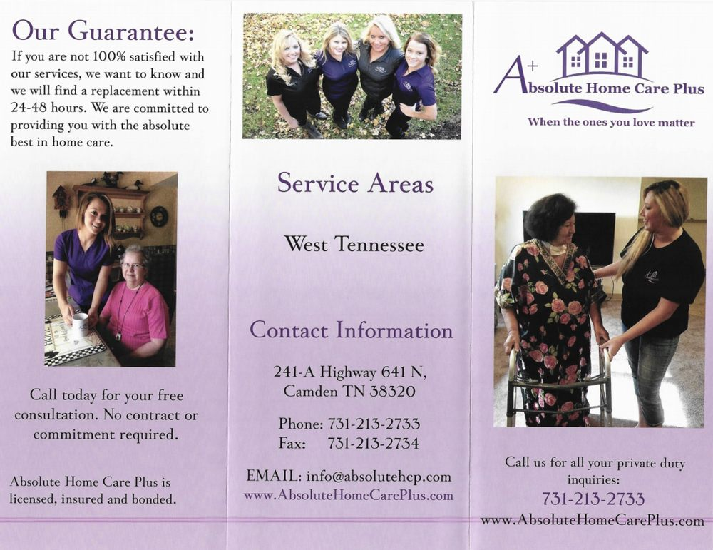 Absolute Home Care Plus: 241 Hwy N, Camden, TN