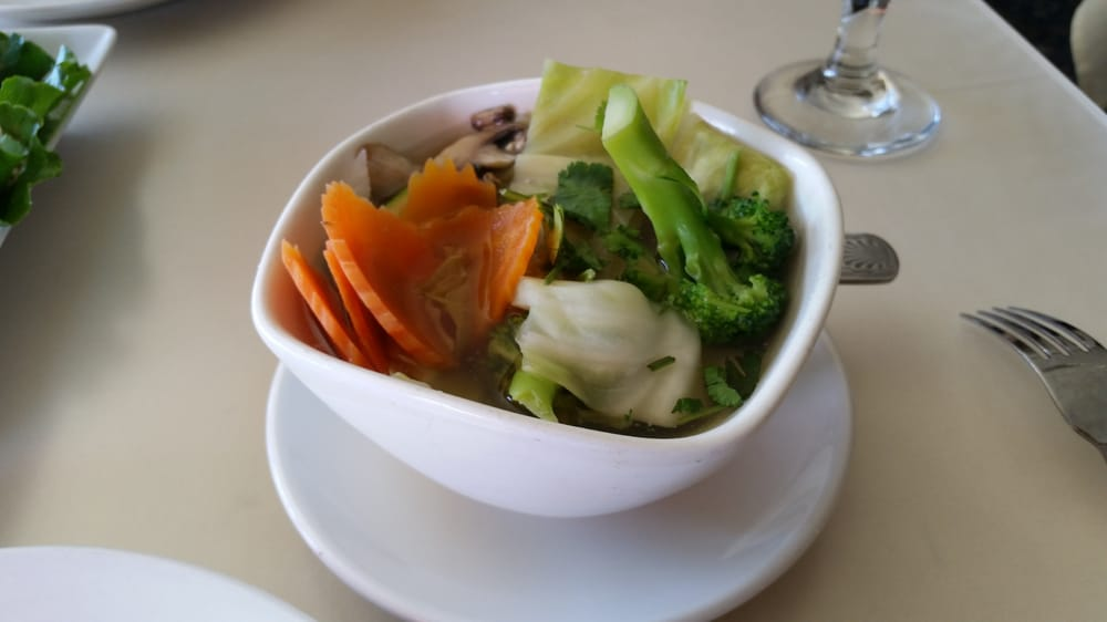 Mixed vegetable soup yelp for Amarin thai cuisine menu