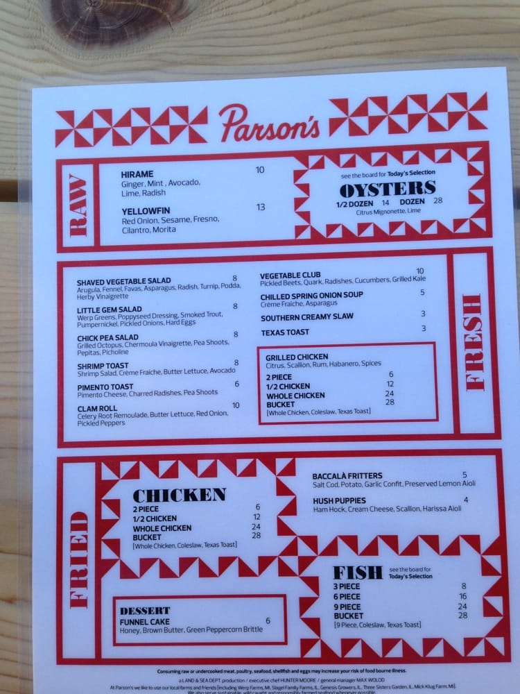 Menu yelp for Chicago fish and chicken menu