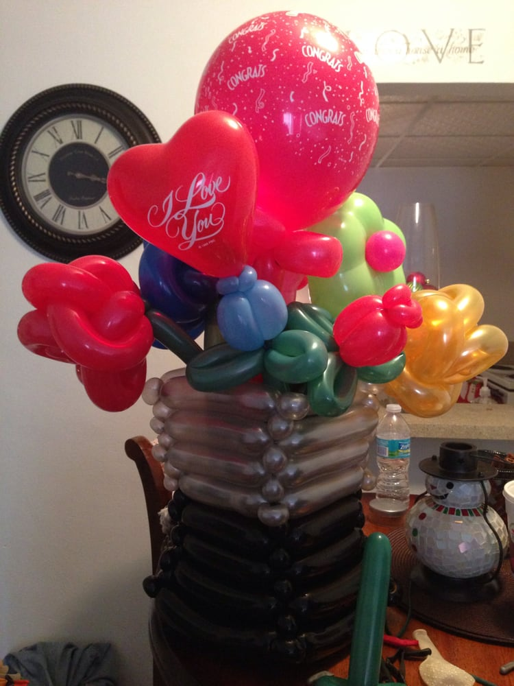 Balloon flower bouquet great gift for valentines day!! - Yelp
