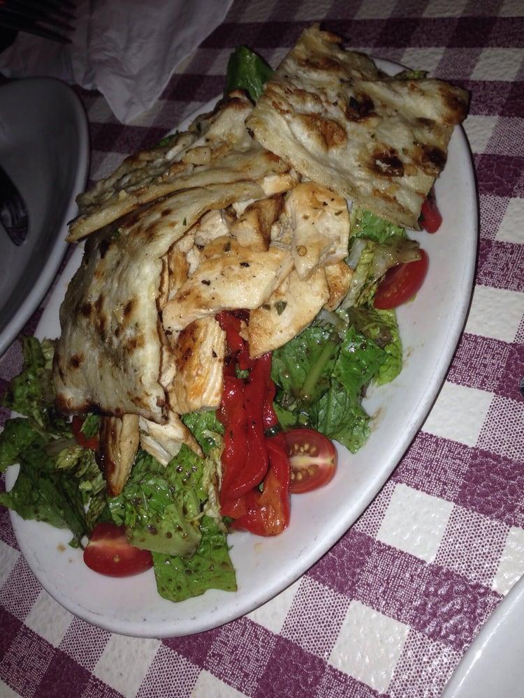 Peppino S Pizza: Chicken Salad. HUGE!