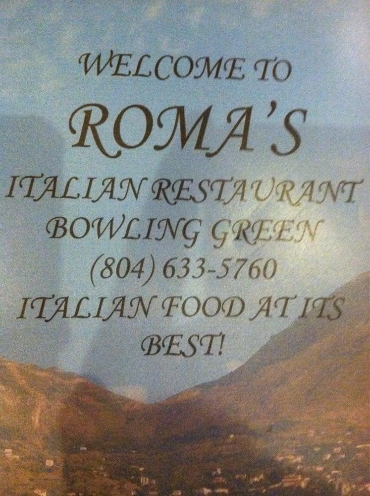Roma S Italian Restaurant Pizza Bowling Green Va