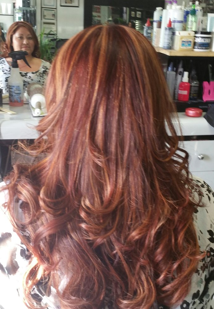 Dark Mahogany Red Hair Color Photo 4