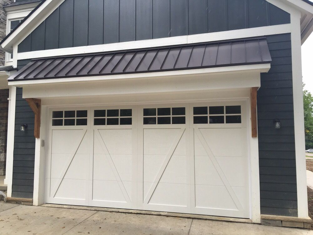 16 X 8 Haas Garage Door Model 942w Color White