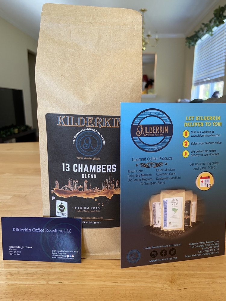 Kilderkin Coffee Roasters: 454 Columbia Industrial Blvd, Evans, GA