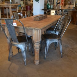 Photo Of Ciel Loft Home St Louis Park Mn United States Tolix Cafe Chairs With A Reclaimed Wood