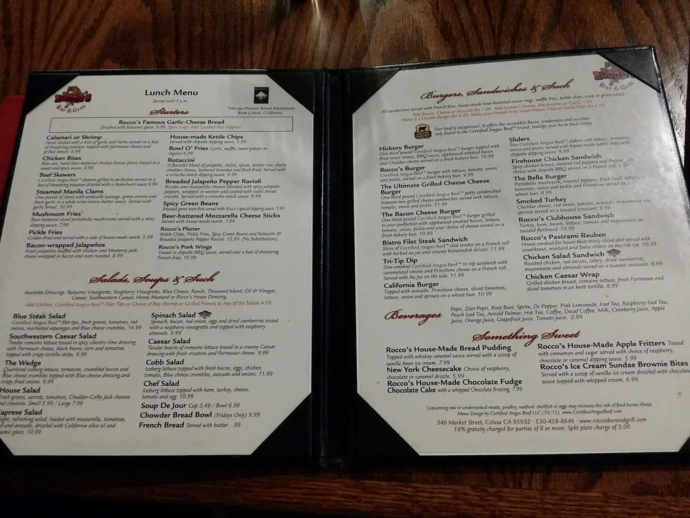 Rocco's Bar & Grill - 2019 All You Need to Know BEFORE You