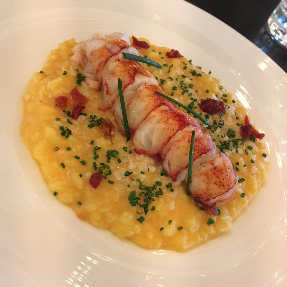 Lobster Risotto W Butter Poached Lobster Tail Truffle