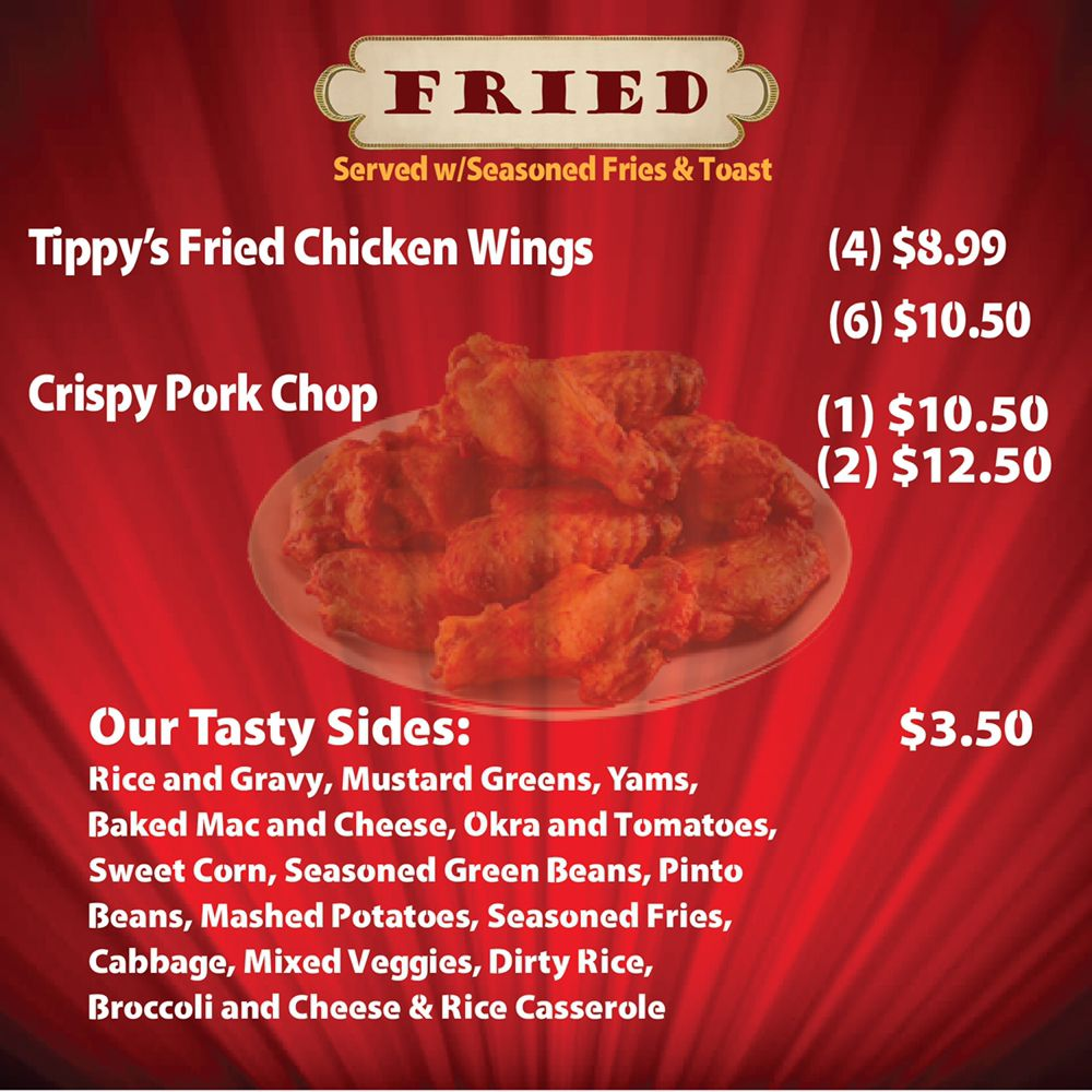 Chicken wings fried pork chops and our sides are amazing too yelp photo of tippys soul food houston tx united states chicken wings forumfinder Choice Image