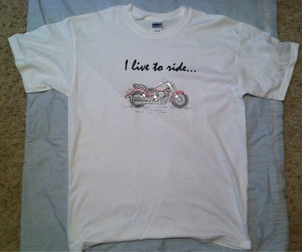 I live to ride t shirt visit diannastudio for more styles for T shirt printing columbia mo