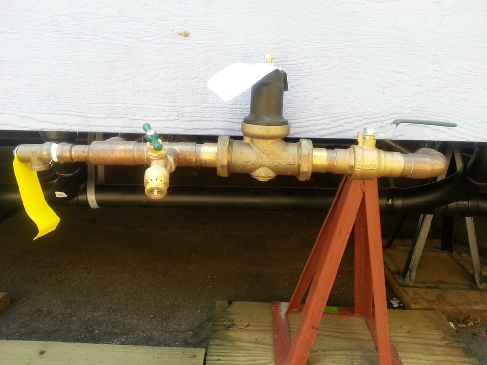 city plumber installed a ball water shut off valve on a. Black Bedroom Furniture Sets. Home Design Ideas