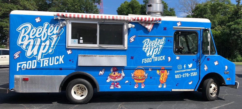 Beefed Up Food truck: 401 W Martintown Rd, Belvedere, SC