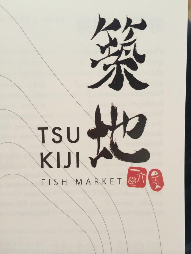 Menu cover yelp for Tsukiji fish market chicago