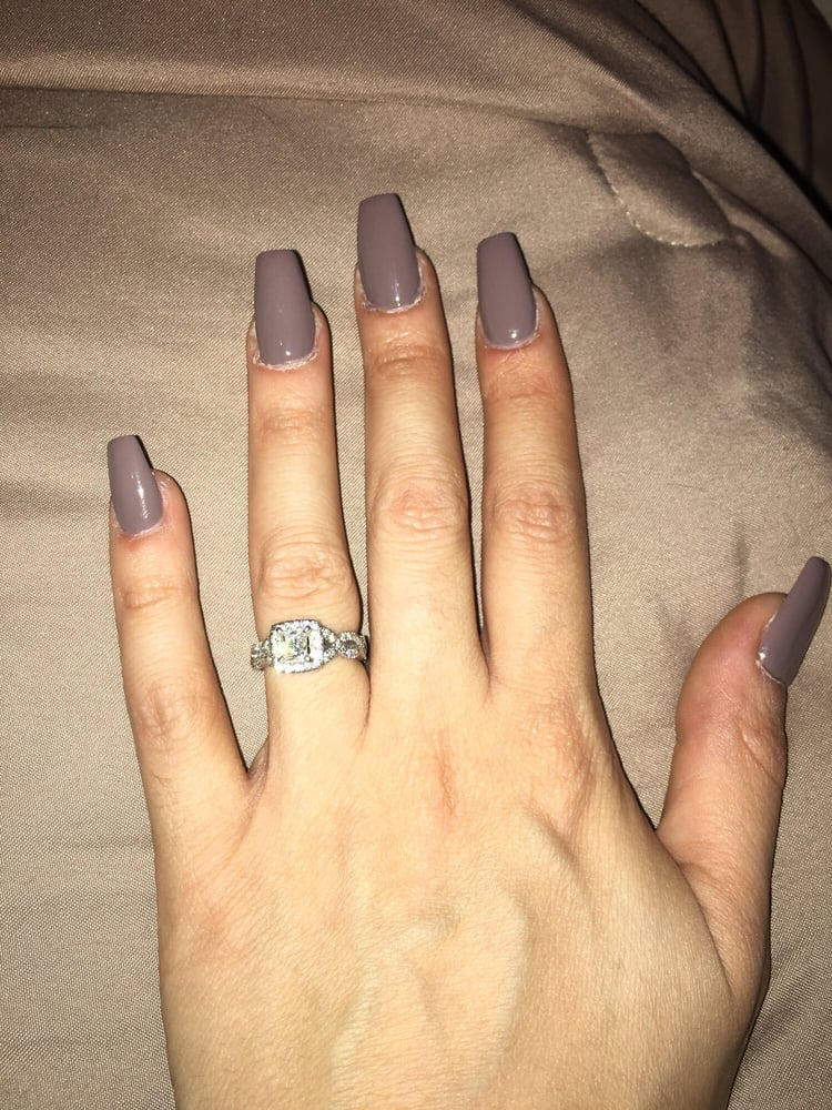 Fresh Coffin style nails 35$ full set - Yelp