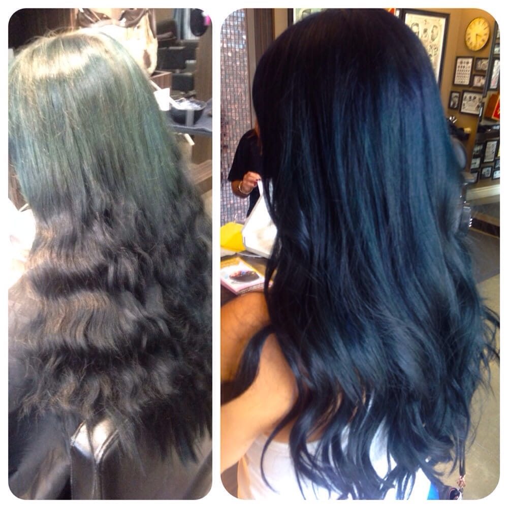 Navy Blue Hair Before And After By Sara Yelp