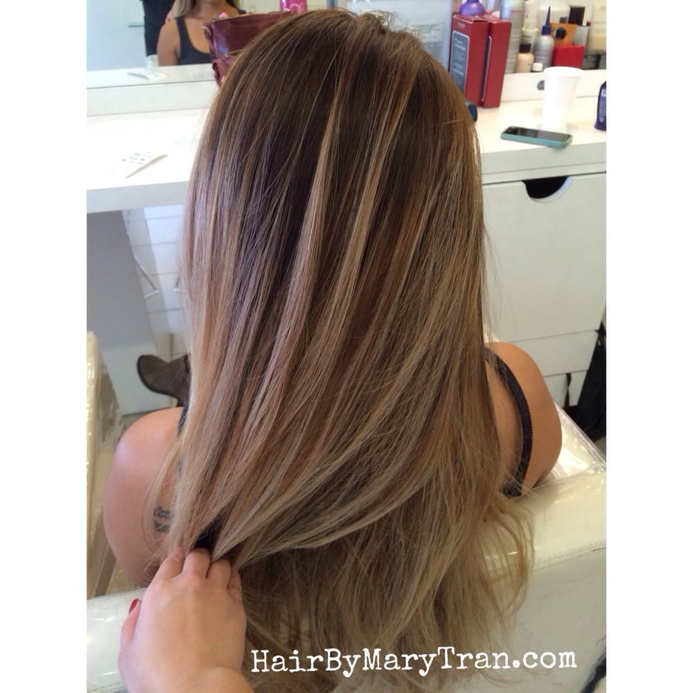 Blended Ombre Balayage Highlights With Light Brown Base
