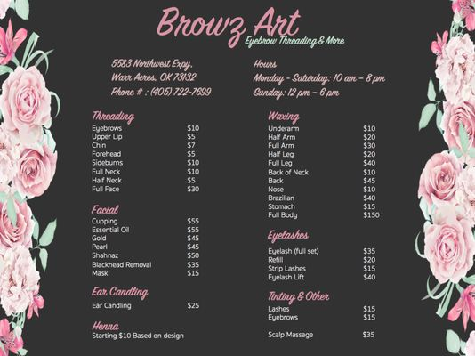 Browz Art 5583 NW Expressway Warr Acres, OK Beauty & Day Spas - MapQuest