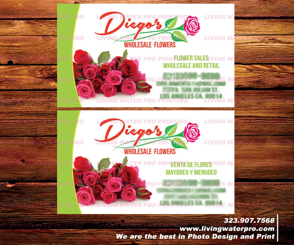 Business Cards Printing For Flower shop, Flower Store, Flowers ...