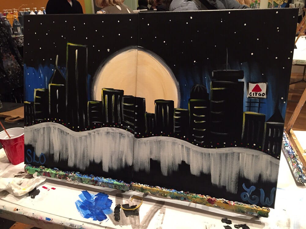 Our final product moonlight boston yelp for Paint bar newton