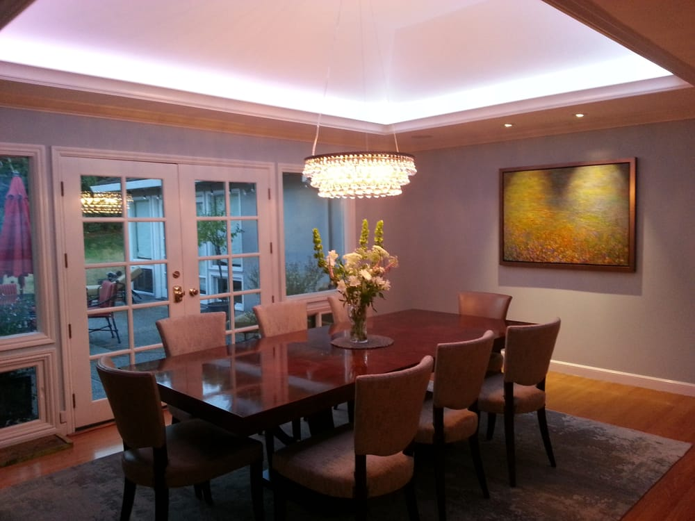 rgb led cove lighting led recessed lights at painting chandelier