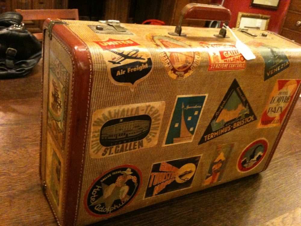 Found this today. Vintage suitcase with travel sticker . - Yelp