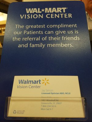 Walmart Vision & Glasses 1451 Woodruff Rd Greenville, SC