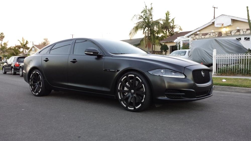 Satin Black Full Vinyl Wrap Jaguar Xjl 2012 Yelp