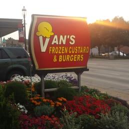 vans frozen custard menu