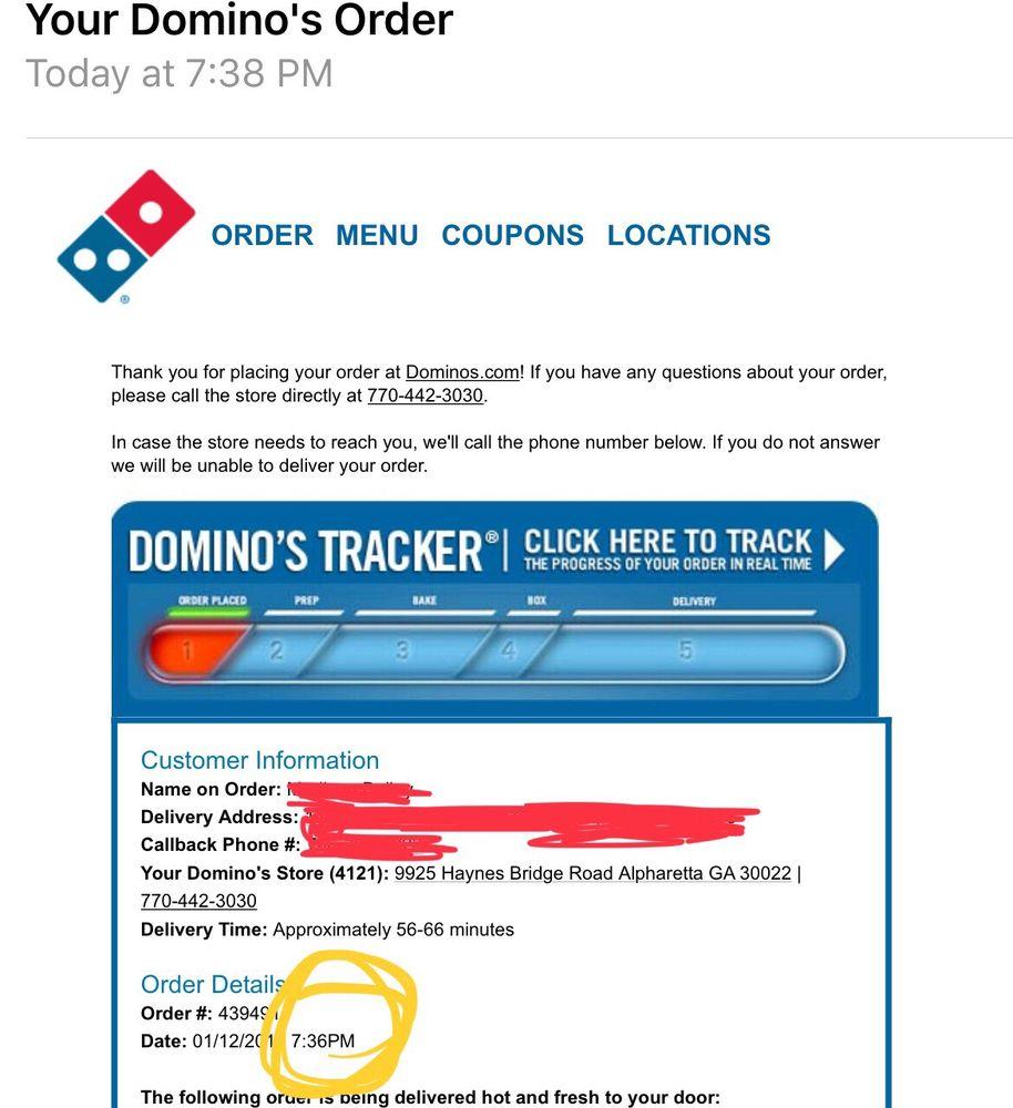 Domino\'s Pizza - 20 Reviews - Pizza - 9925 Haynes Bridge Rd ...