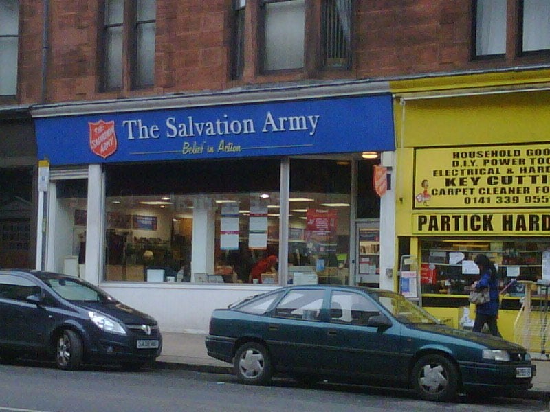 Salvation army charity shops dumbarton rd west end for Furniture charity shops