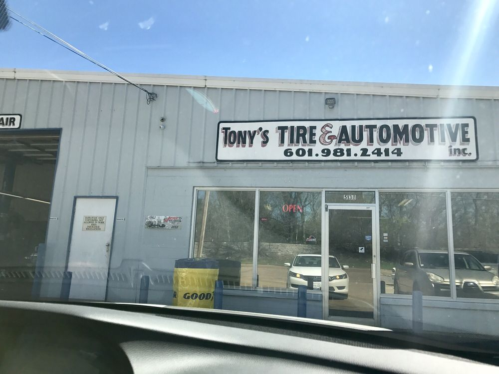 Tony's Tire & Automotive: 5138 N State St, Jackson, MS