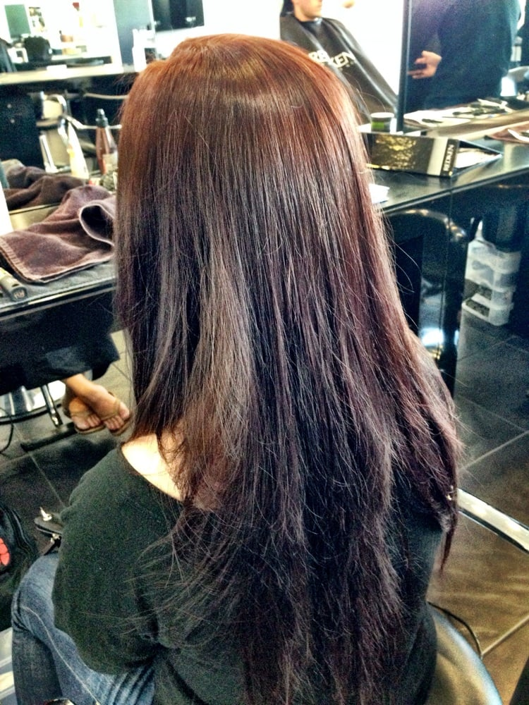 Hair post dye courtesy of rachel h yelp for Academy for salon professionals santa clara