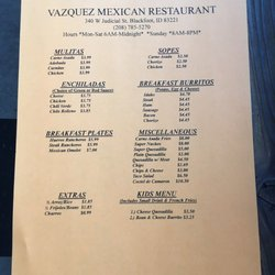 Photo Of Vazquez Mexican Restaurant Blackfoot Id United States