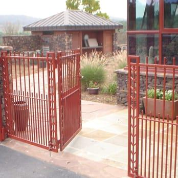 Frank Lloyd Wright Inspired Design For This Iron Garden Gate