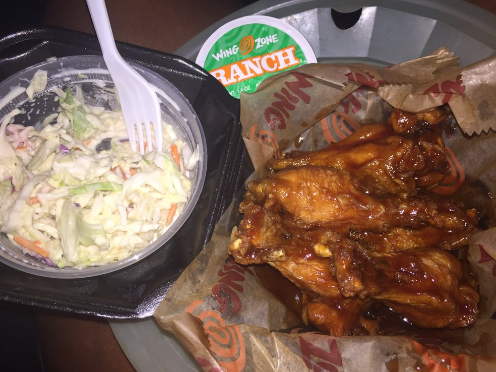 Honey q wings and cole slaw very yummy yelp for Jj fish and chicken chicago il