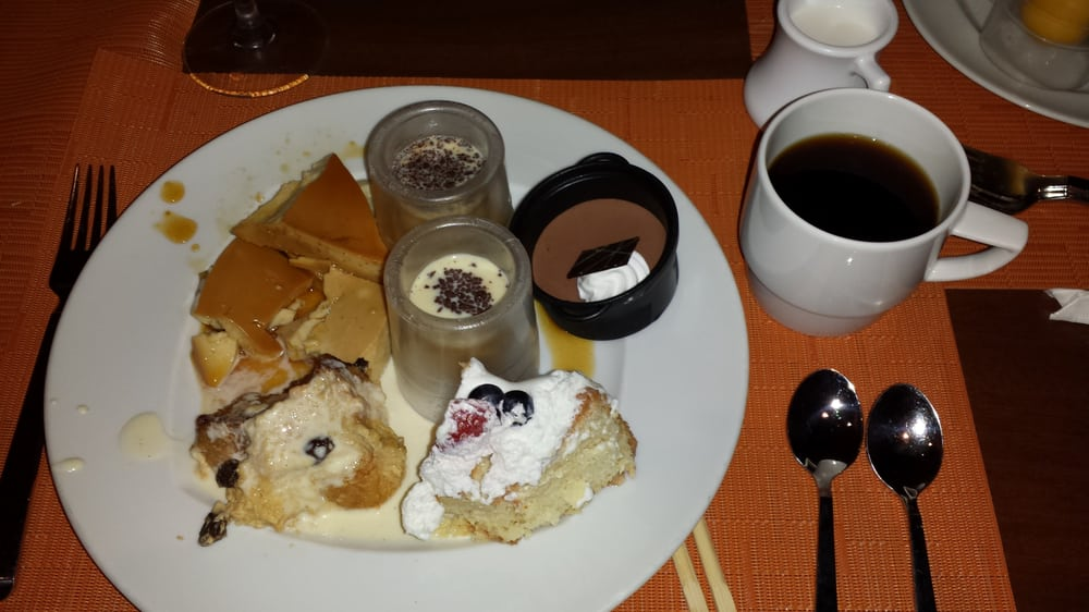 ... bread pudding, Thai coffee custard, dolce Leche cake, chocolate