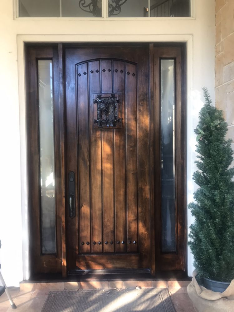 Houston Front Door Refinishing
