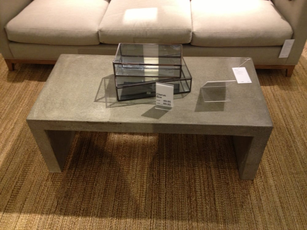 Photo Of Crate And Barrel Scottsdale Az United States Concrete Coffee Table