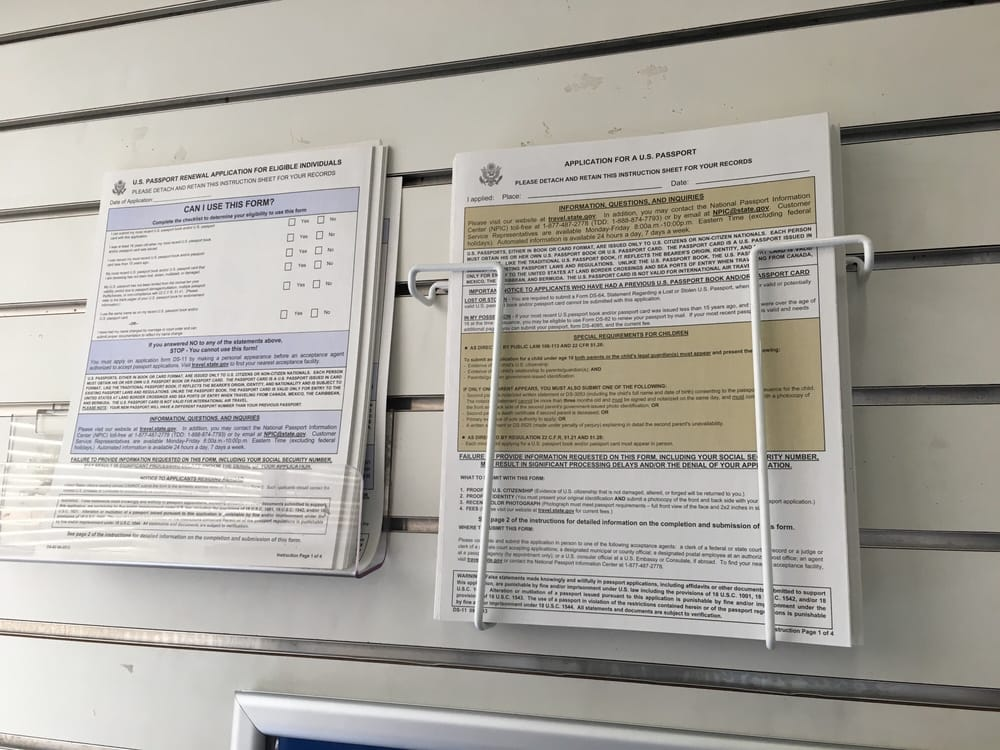 Renewal Form On Lt Application On Rt Outside The Passport Office