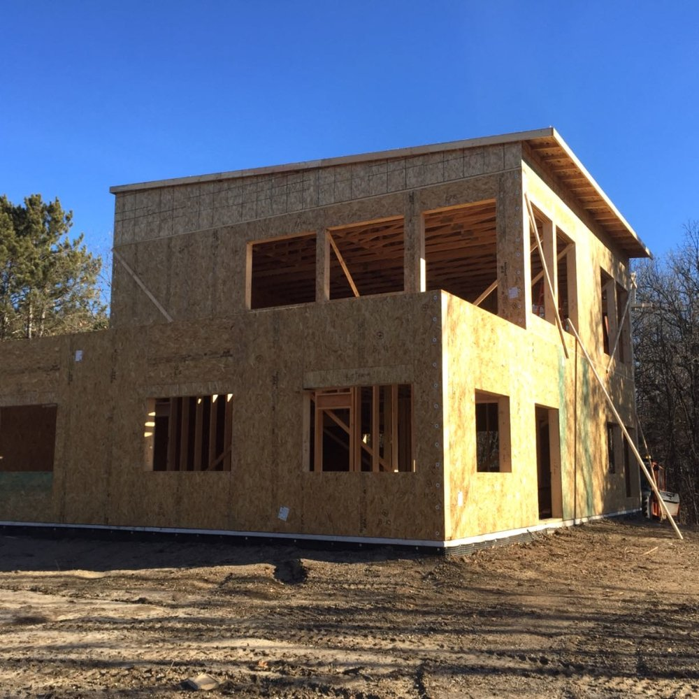 Sip structurally insulated panel house in jordan yelp for Building a house in ct