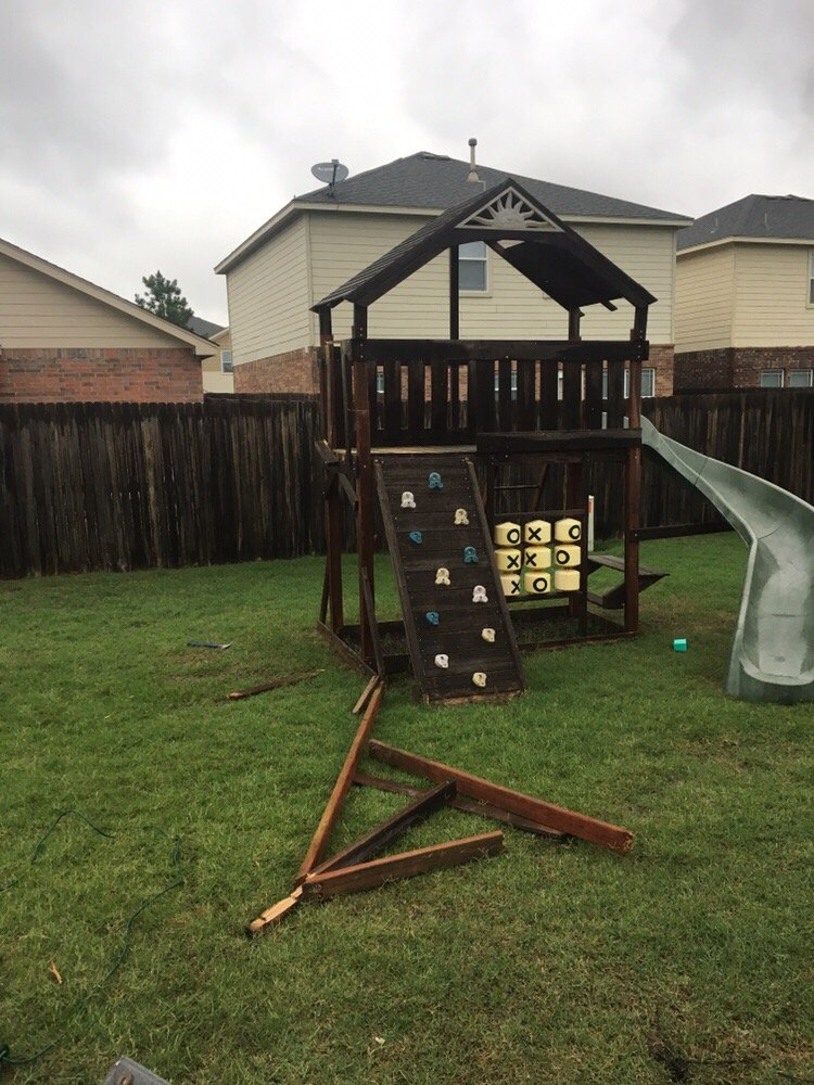 Have An Old Swing Set Let Us Tear It Down And Haul It Off