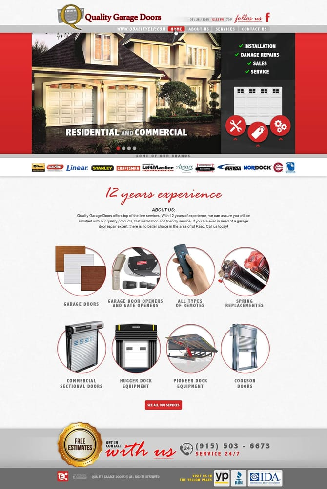 garage doors el pasoQuality Garage Doors  Garage Door Services  3719 Red Sail El