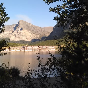 Photo Of Many Glacier Hotel Swiftcur Lake Mt United States On