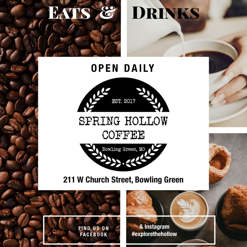 Spring Hollow Coffee: 211 W Church St, Bowling Green, MO